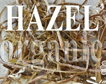 Hazel bark. Dried. Organic herbal tea 40g.