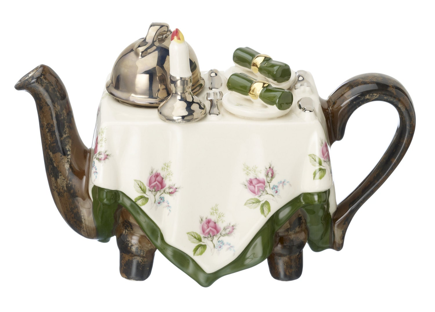 Novelty Tea Kettles ~ The dinner for two one cup teapot by cartersofsuffolk on