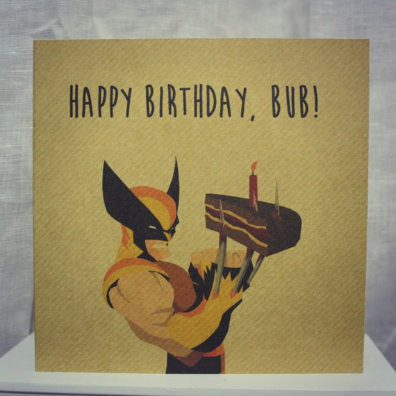 Items Similar To Wolverine Birthday Card On Etsy
