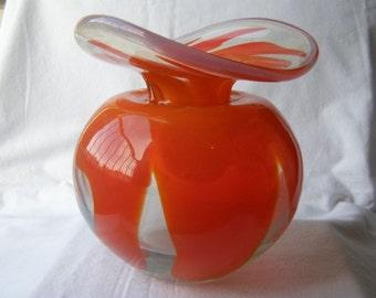 Vintage Italian Murano Art Glass Vase BEAUTIFUL !!!
