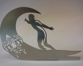 "wave surfer - ""hawaii tattoo"" - decorative object for the desktop"