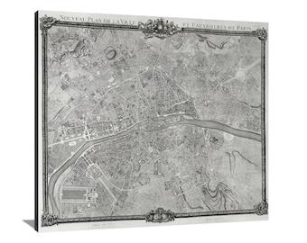 Plan de Jailot Large Vintage Map Matte Print
