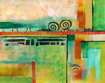 Abstract Painting / Landscape / Original Painting / Mixed media painting