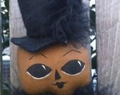 Halloween Pumpkin Doll Primitive Folk Art Halloween