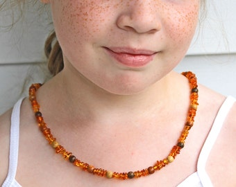 Baltic Amber Necklace Baby thru Adult sizes. Genuine Amber Holistic Healing Baby Teething Arthritis Pain Relief naturally by Stargazinglily