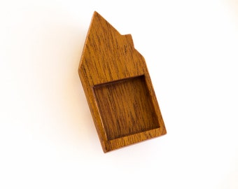 "US made high quality hardwood bezel tray - Mahogany - 1"" - 25.5 mm - Square - (H3-M)"