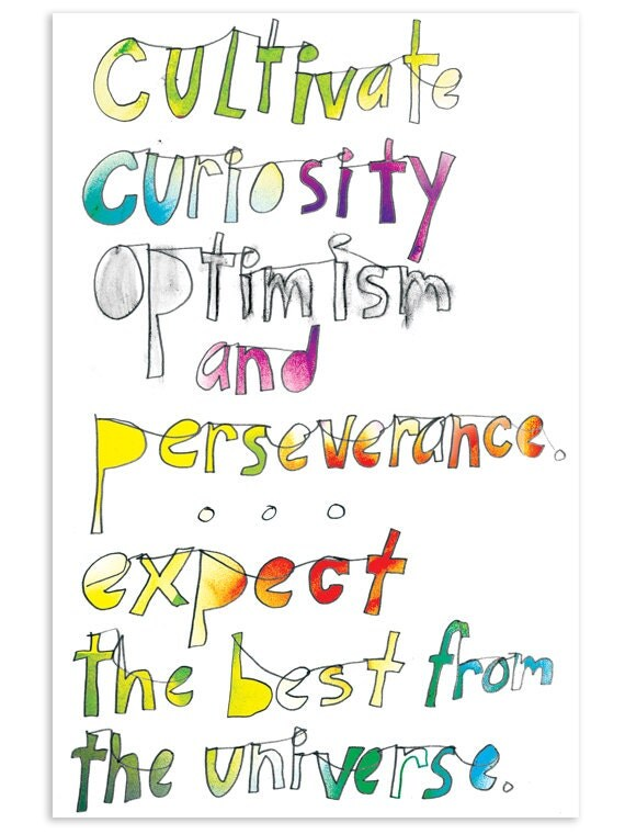 Cultivate curiosity - Inspirational Postcard (Set of 5)