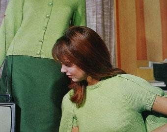 Knitting Patterns Sweater Cardigan Emu 2603 Women Vintage Paper Original NOT a PDF