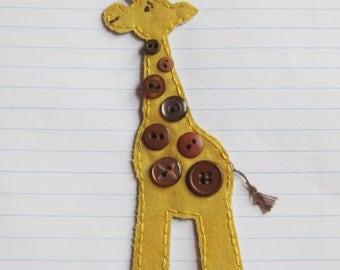 Giraffe Applique, Giraffe Scrapbooking Patch, Fabric Giraffe, Baby Giraffe, Giraffe Embellishment, Scrapbook Giraffe, Made To Order, Patch
