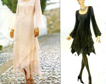 Vogue 1737 TOM and LINDA PLATT American Designers - Filmy Layered Evening Dress