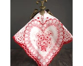 Hearts Hanky - Valentine Handkerchief