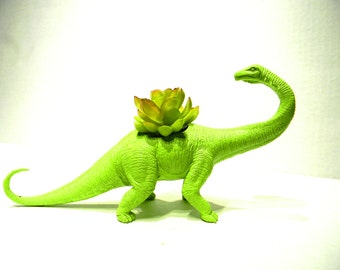 EXTREMELY LIMITED!Large Green Dinosaur Planter for Succulents and Small Cacti Plants Great Gift for the Spring and Summer Months