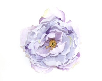 OVERSTOCK SALE: Artificial Flower - Peony in Lavender Lilac Purple --  6 Inches - Silk flower. was 3.85