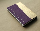 Gold and Dark Purple Coptic Bound Journal - Medium Size - paperiaarre
