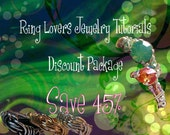Ring Lovers Wire Jewelry Tutorial Special - Get 9 Ring Tutorials Save 41.00 Dollars - Instant Download PDF Files