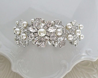 Wedding Jewelry, bridal bracelet, pearl cuff, pearl jewelry, bridal jewelry, stretch bracelet, pearl bracelet, Petite to plus size