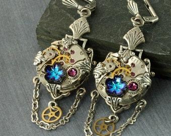"""Shop """"steampunk jewelry"""" in Earrings"""