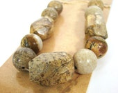 Destash Natural Picture Jasper Beads