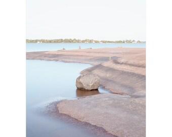 Pink Beach Photograph - Coastal Photograph - Muskoka Pink - Lake Huron Beach - Georgian Bay Print - Cottage Beach Decor - Coastal Wall Art