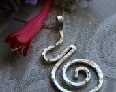 Pregnancy Necklace - Midwife Gift - Doula Gift - Sterling Silver Birth Spiral