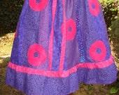 Phish Skirt Jon Fishman Donut Dress Tour Skirt John Hippie Patchwork Applique Festival by designer elyse oRiGiNaLs