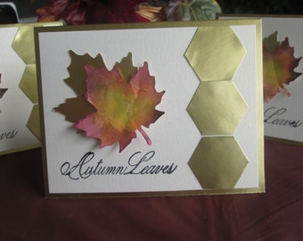 Set of 3 Autumn Gold Leaves