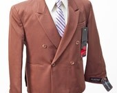 Junior's Suit / Vintage Brown Two-Piece Suit / Size 14H / Jacket and Trousers