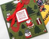 Christmas Gift Card Holder - Money Holder Christmas Card - Christmas Money Card - Don't Open Until Christmas Money Envelope
