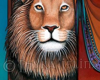 Levon Bohemian Circus Lion Tamer Fae Canvas ACEO CU-2