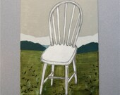 A Wooden Chair - Original Acrylic Painting