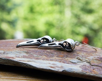 Penguin Skull Silver Earrings