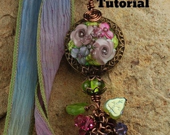 Fairy Whisper Lampwork Pendant Tutorial, Pendant Tutorial, Beaded Tutorial 459 by CC Design