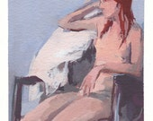 Gouache Painting // From Observation // Nude Female Figure