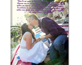 Cotton Anniversary Gift Words and Photos Together on Canvas Custom Art 12x16