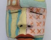 Ceramic sculpture Mask of Celebration  Mask