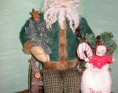 Primitive St. Nick Santa Doll, Epattern, PDF, Downloadable Digital Pattern