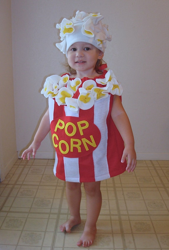 Baby Popcorn Costume Toddler Newborn Halloween Costume Photo Prop  sc 1 st  Trendy New Designers : popcorn costume for adults  - Germanpascual.Com