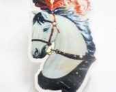 50% OFF - Circus horse brooch