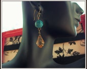 MARKED DOWN Champagne & Turquoise Dreams Earrings