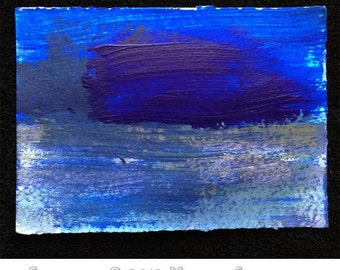 Original Mixed Media Waterscape, #27 of 101 Lake Series 2013