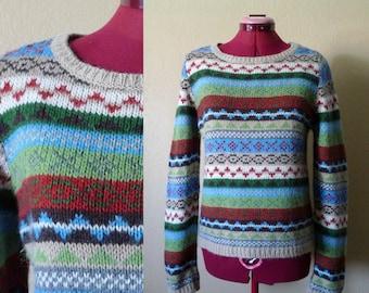 vintage Benetton . Italy wool sweater . medium. knitwear
