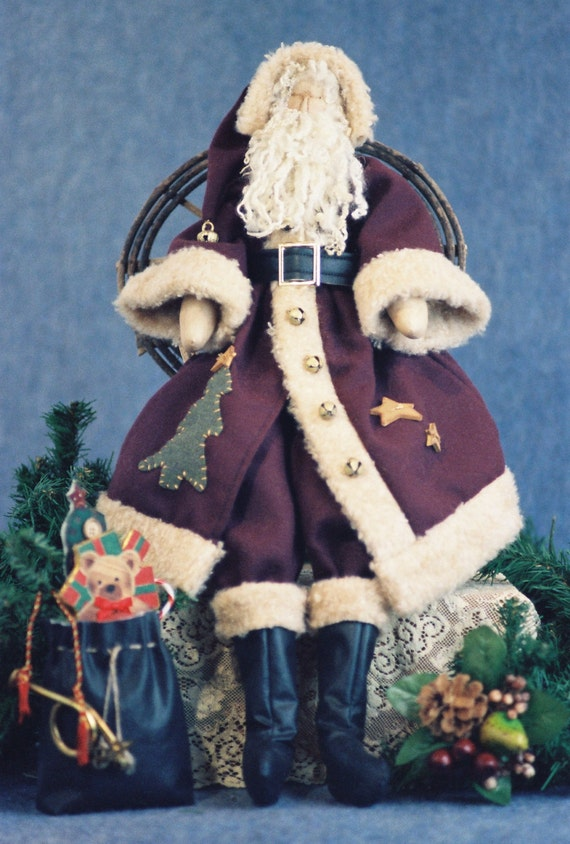 Cloth Doll E-Pattern - 24in Old World style Santa Claus