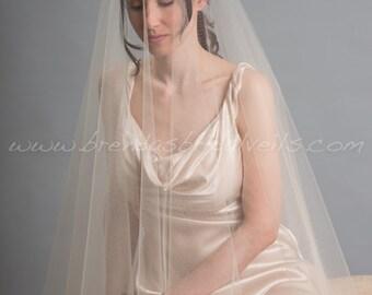 Bridal Veil Set, Drop Veil with Rhinestone Bohemian Style Headpiece, Wedding Veil, Wedding Headband
