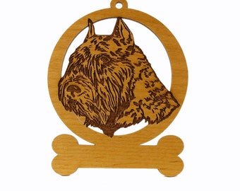 Bouvier (Head) Ornament 081932 Personalized With Your Dog's Name
