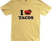 Mens TACO T-Shirt - I Love Tacos FUNNY  Shirt - (Sizes s, m,l, xl)