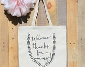 Wedding Welcome Bag Thanks for Coming Canvas Totes for Guests