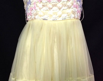 """Vintage 1950s Pastel Colored Day Dress XS24"""""""