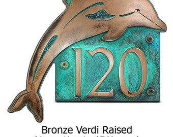 Dolphin Home Address Plaque - Up to 4 House Numbers 18x14.5 inches Custom for you by Atlas Signs and Plaques