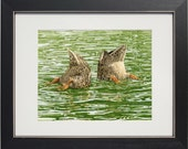 Bottoms Up - archival watercolor print by Tracy Lizotte