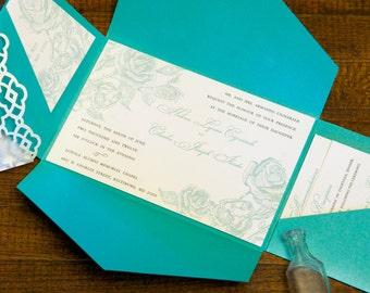 Custom Wedding Invitations - Letterpress (2 color)